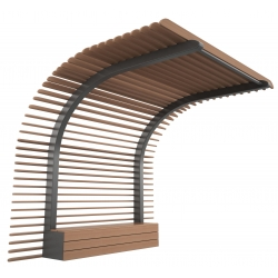 Composite Timber Furniture benches with shelter