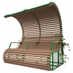 Composite Timber Benches with Shelter