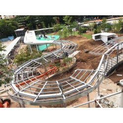 Linkway steel structure Installation Process