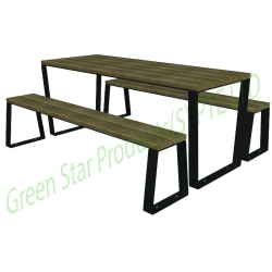 outdoor furniture-recycled plastic lumber furniture