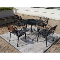 Cast Aluminium with Powder coat finishing furniture.