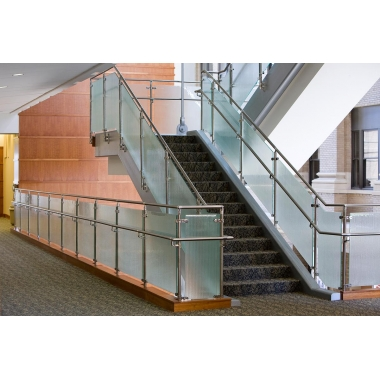 Safety Glass railing at walking area