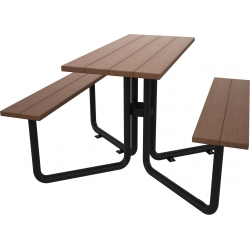 Composite Timber Furniture Benches and Table Set