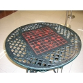 Cast aluminium Round table with Chinese Chess Board